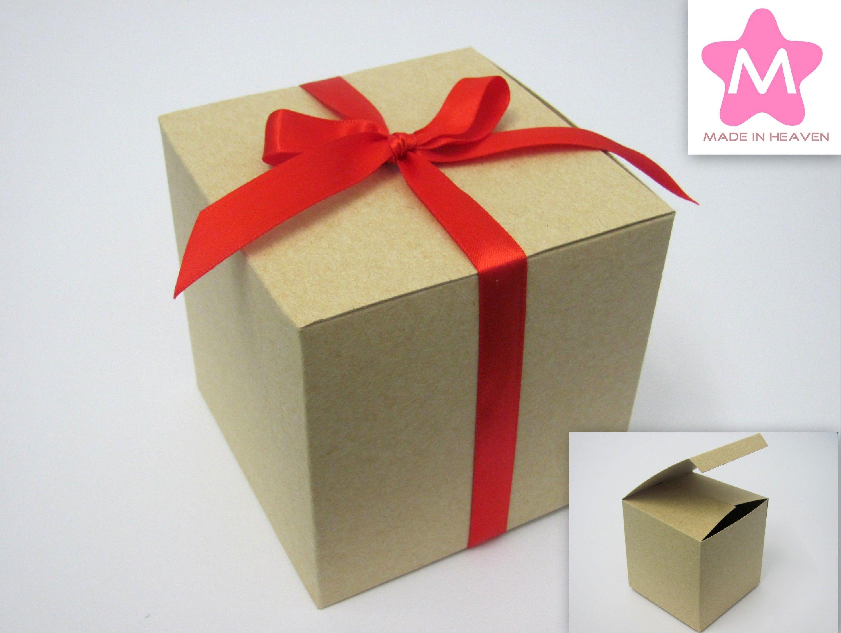 Caixa Cubo Kraft Natural