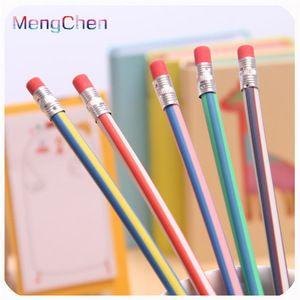 12pcs Magic Bendy Flexible Soft Pencil with Eraser Colorful Cute Student School