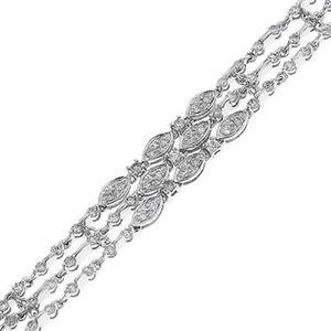 Modern Marquise Look Round Cut Diamond Bracelet 14k White Gold 3.30CT #readytosayyes #engagement #diamonds #ring #gdd #bigday #feature #getdiamondsdirect #shine #wedding #proposals #engagementrings #beautiful #futuremrandmrs #sparkle #jewelry #bride #engagementring #makehershine