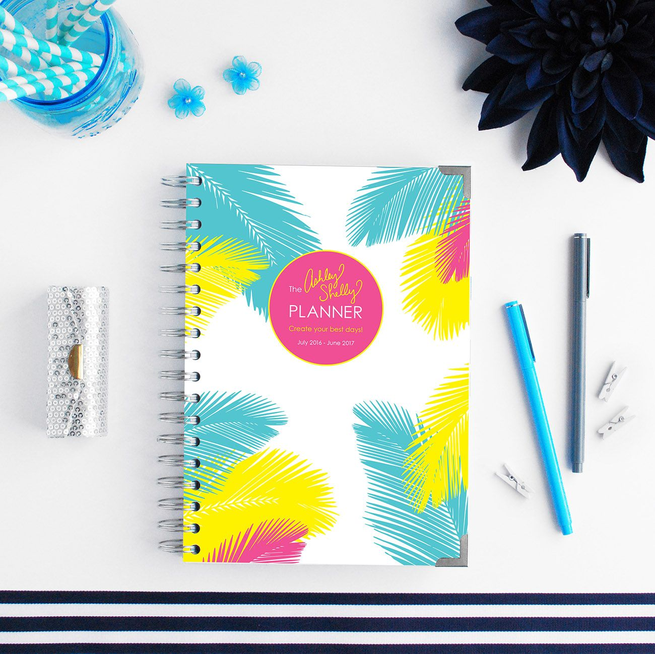 ashley shelly planner 2016 2017 tropical palms planner planning