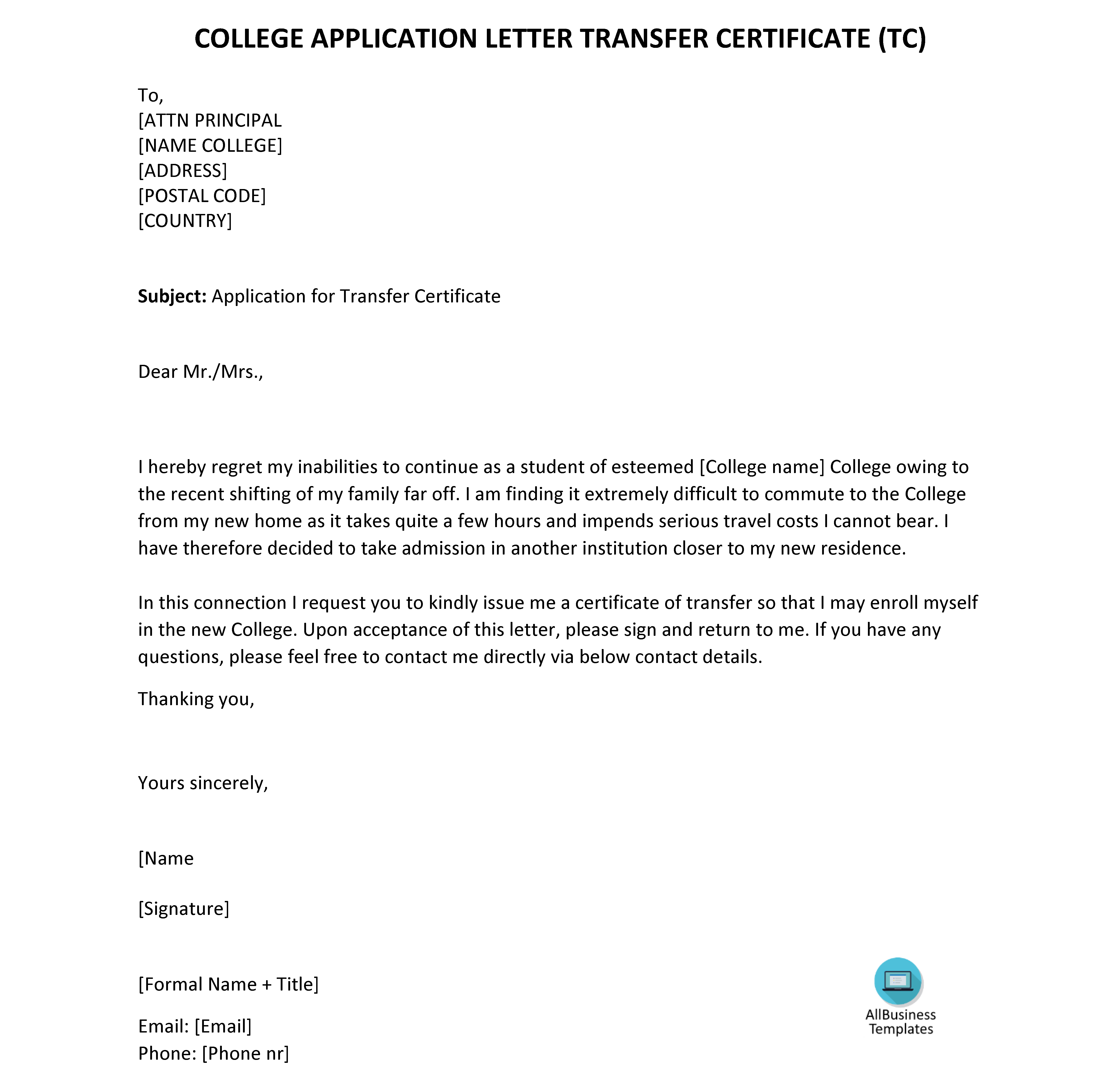 695ccdf25d559293743cf2d8cfaf8c88 - An Application For Transfer Certificate