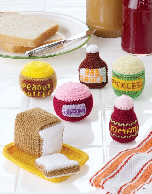 Crochet Food Patterns And Crochet The Dishes And Cups Too Crochet