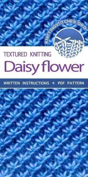 Photo of KnittingStitches – Die Kunst des Strickens, stricken Gänseblümchen-Blumenmaschen … – Knitting 2019 trend | ml