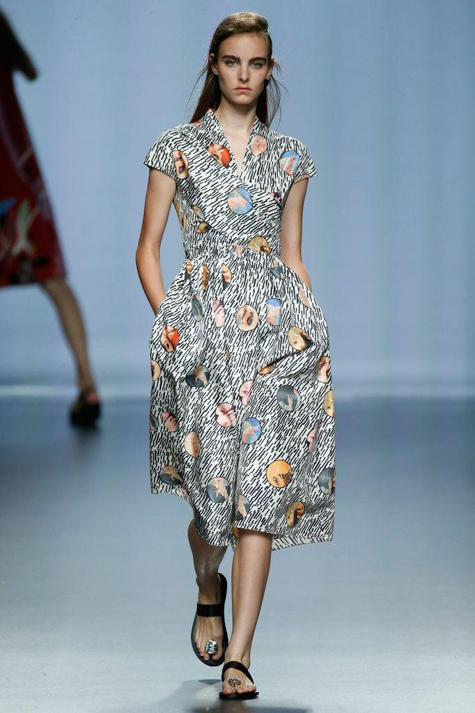 Juan Vidal at the Madrid Fashion Week. Models wearing Pedro Garcia shoes from Spring-Summer 2016 Collection.