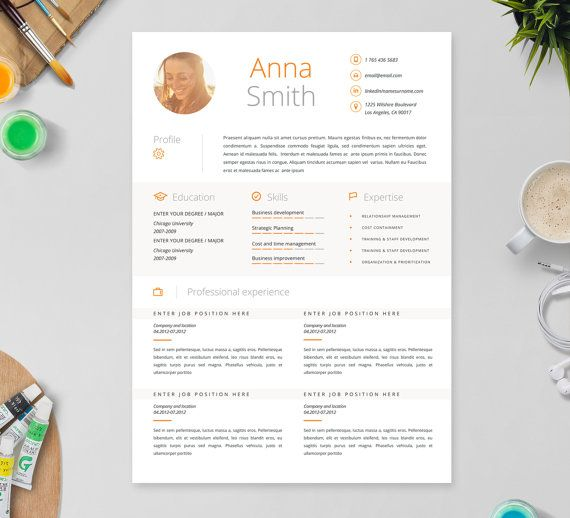 Creative Resume Template In Microsoft Word Clean Simple And Easy