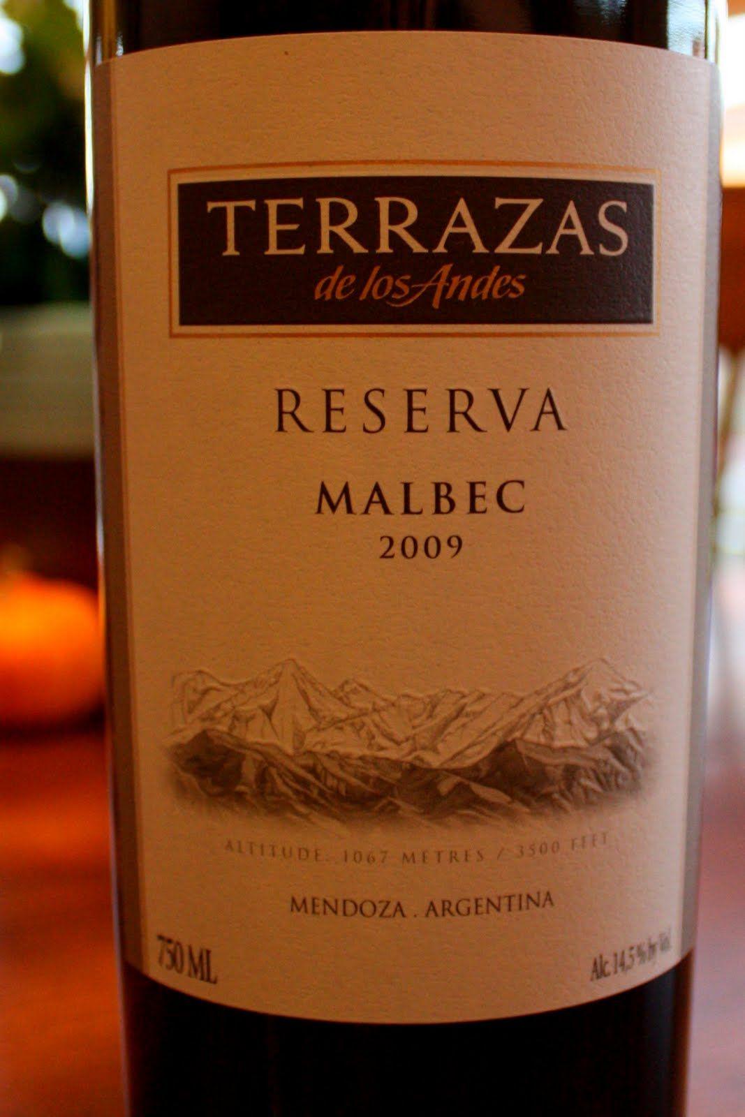 2009 Terrazas De Los Andes Malbec Malbec Malbec Wine Wine Bottle