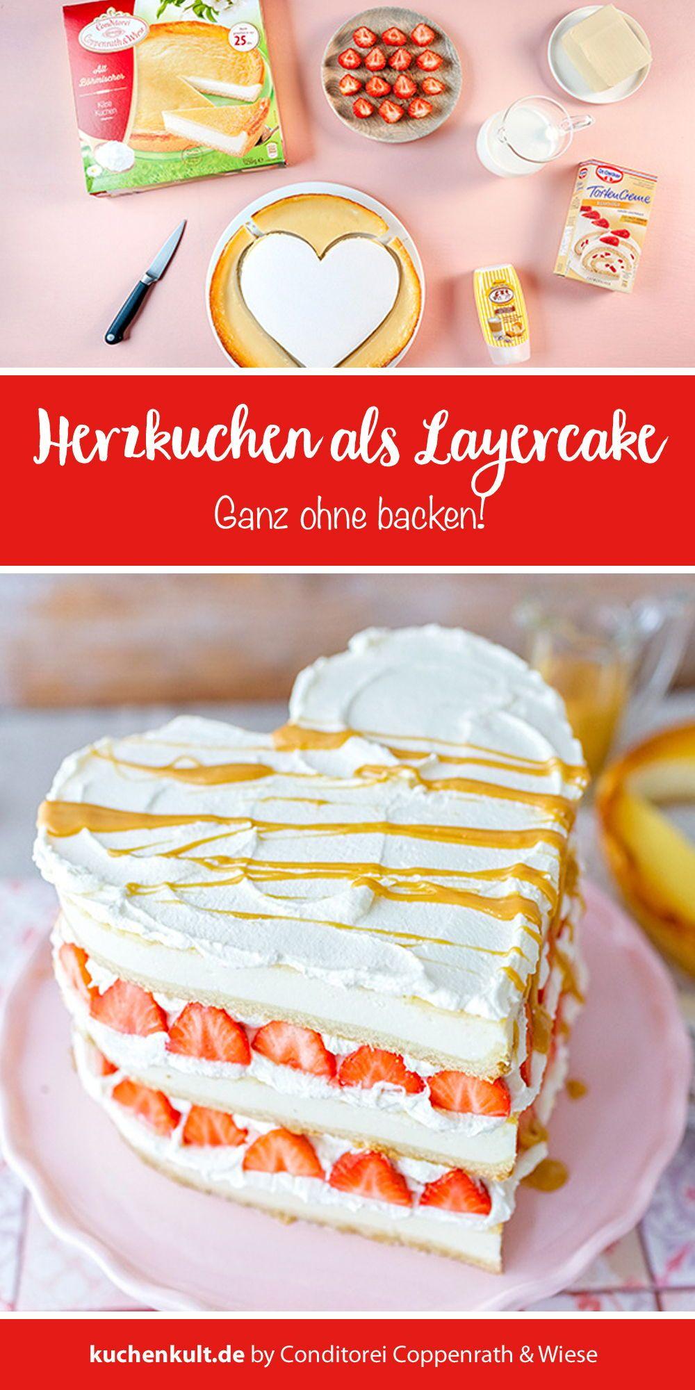 Triple Cheesecake Erdbeer Toffee Zum Valentinstag Valentinstag Kuchen Kuchen Und Torten Und Kuchen Rezepte Einfach