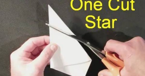 How to make perfect star with 1 8x10 paper and scissors! Genius! I am going to do stars all over my paper lantern | Paper | Pinterest | Stars, Scissors and Pap…