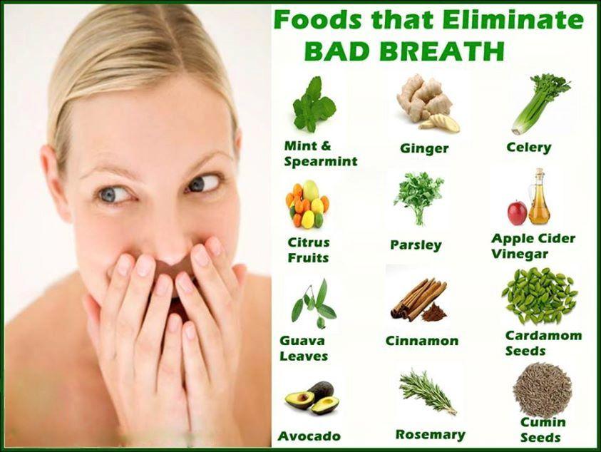 Foods to get rid of badbreath bad breath halitosis