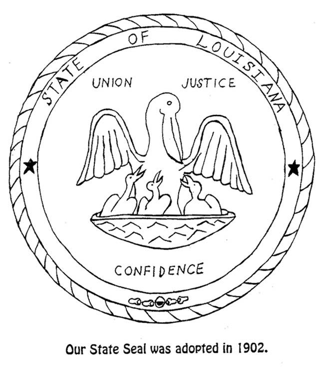 Louisiana State Symbols Coloring Sheets 1 State Symbols