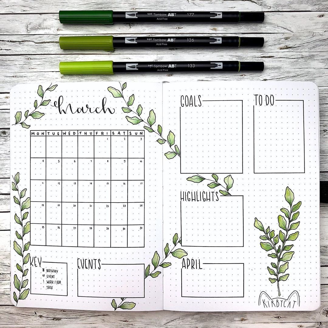 30 March Bullet Journals - Prepare for Spring (202