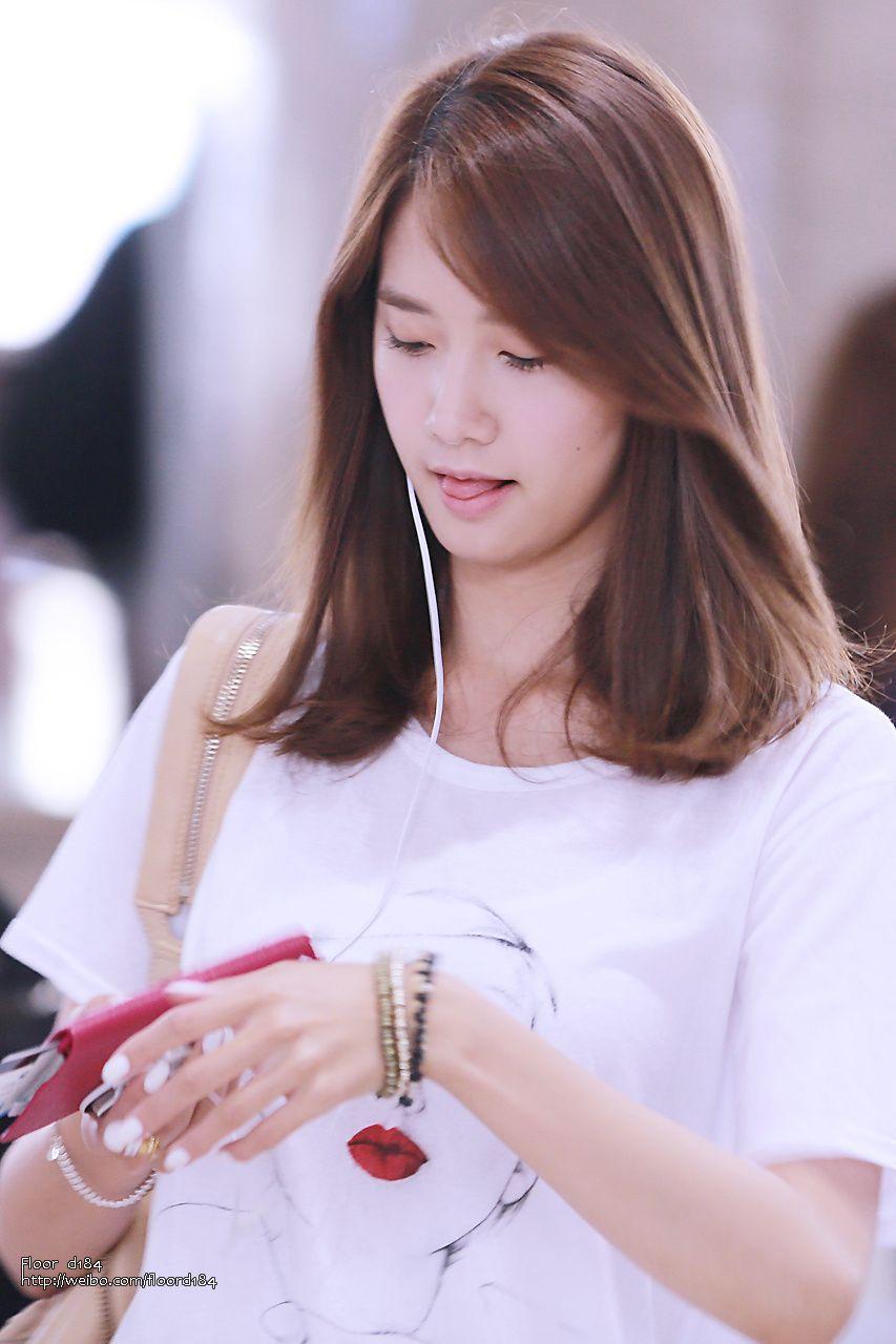 Yoona Airport Gaya Rambut Pendek Ide Gaya Rambut Gaya Rambut Medium