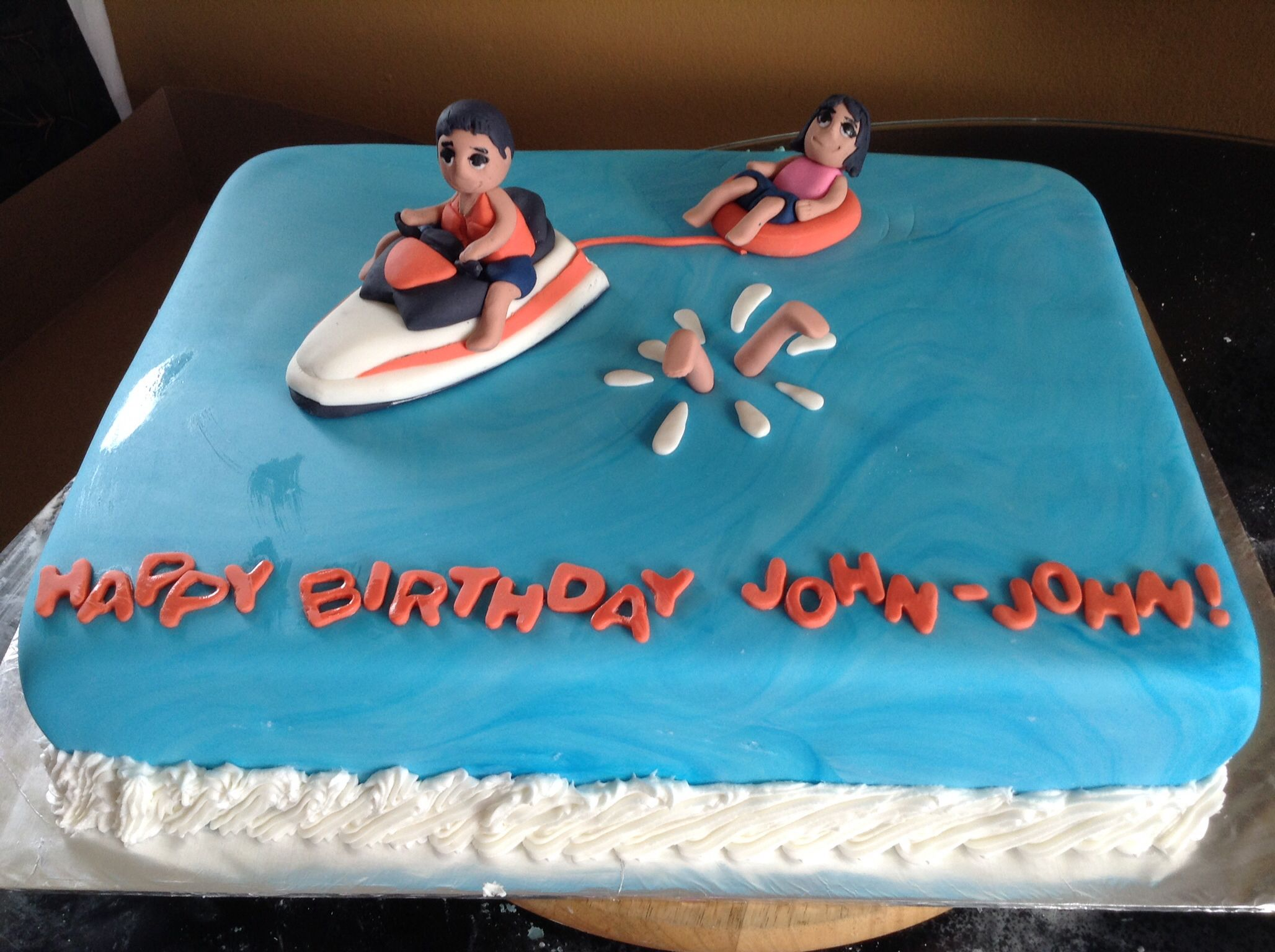 Jet ski cake simplified topper Party Time Pinterest Jet ski