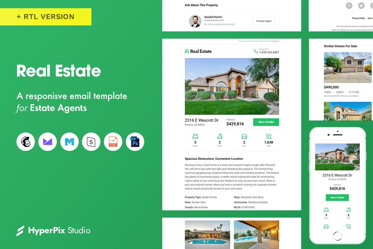 Real Estate Email Template Email Templates Business Marketing Design Templates