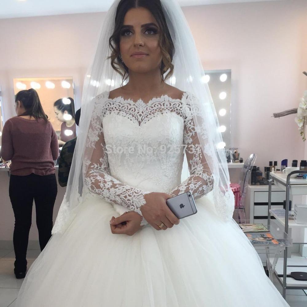 Großhandel Vintage Lace Ballkleid Brautkleider 2016 Milla Nova ...
