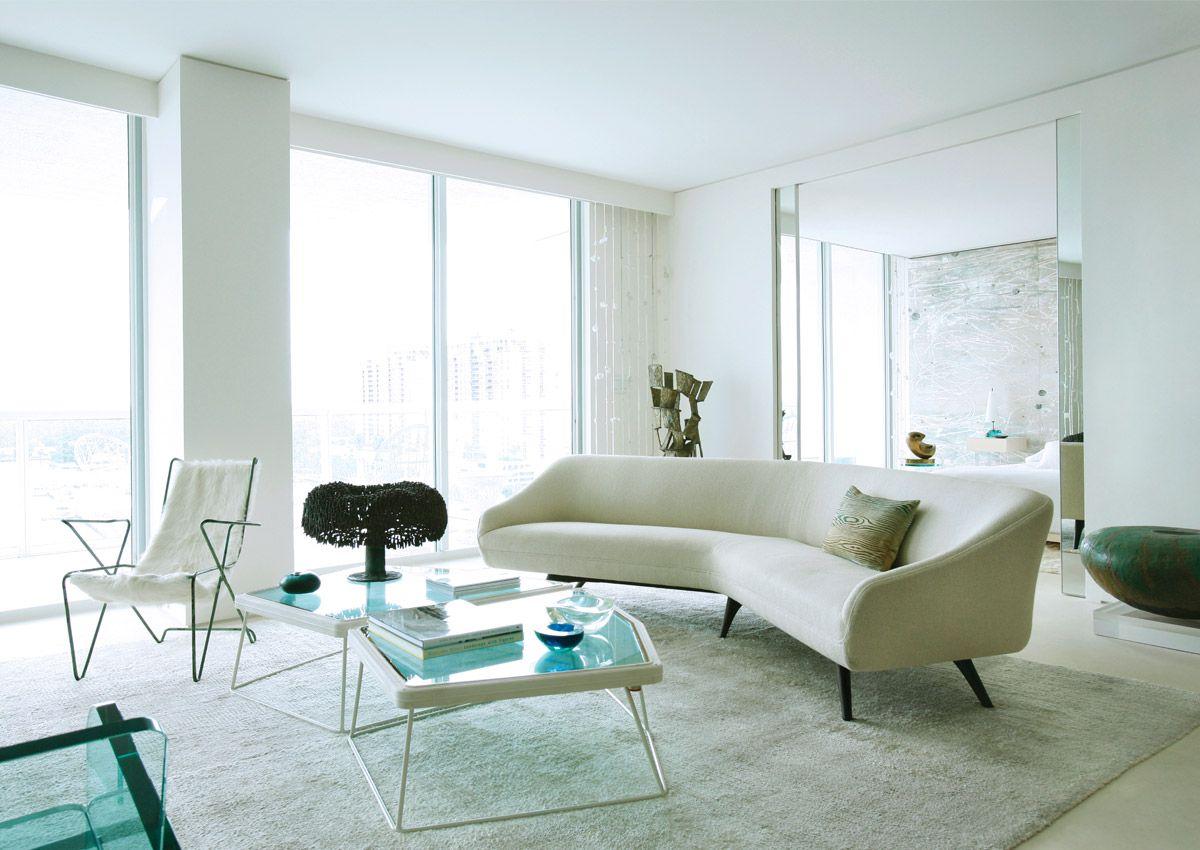Living Room. Miami Beach Apartment. Designer: Chahan Minassian ...