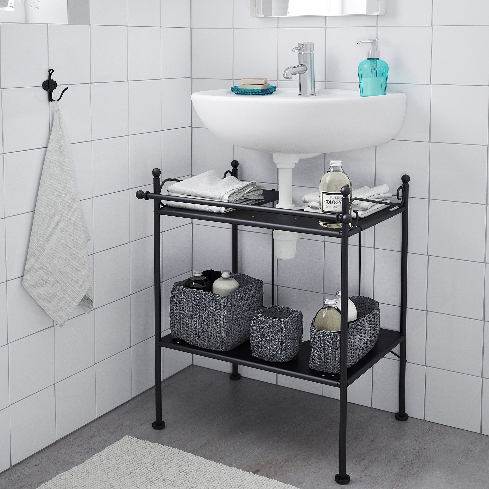 Ikea hack. Rönnskär, Bathroom shelves