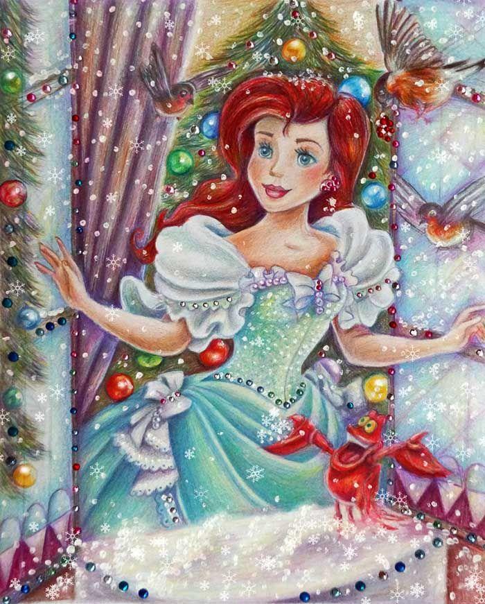 Joyeux no l avec les princesses de disney par alena - Joyeux noel disney ...