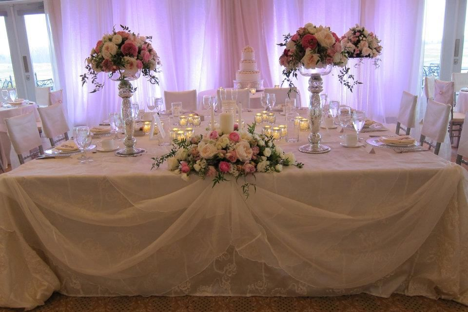 wedding reception head table seating