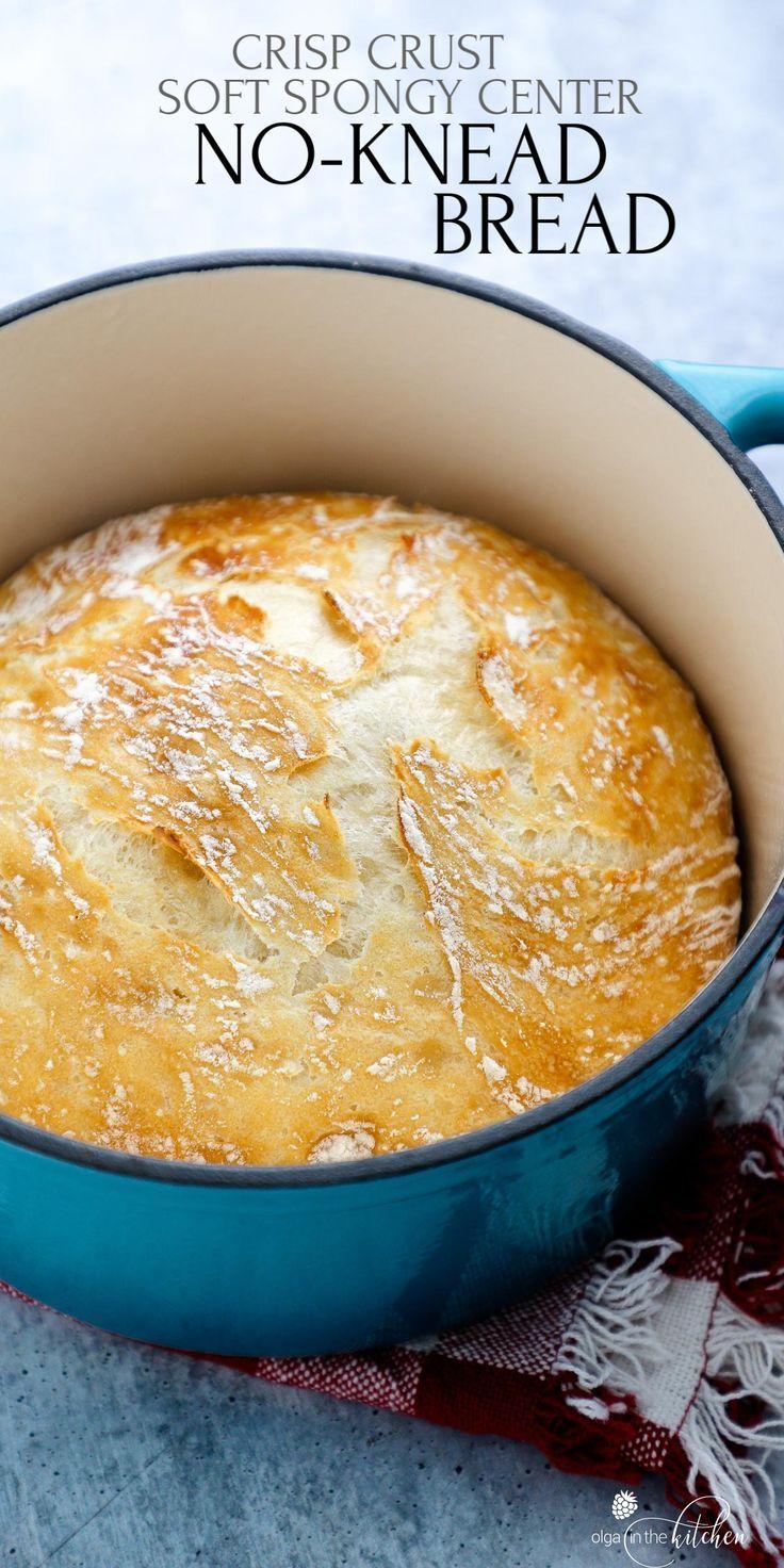 Easy No Knead Bread Recipe No Knead Bread Food Food Recipes