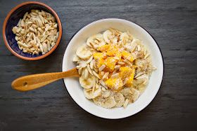Little Market Kitchen: Coconut-Chia Breakfast Bowl with Mango, Almond, and Banana