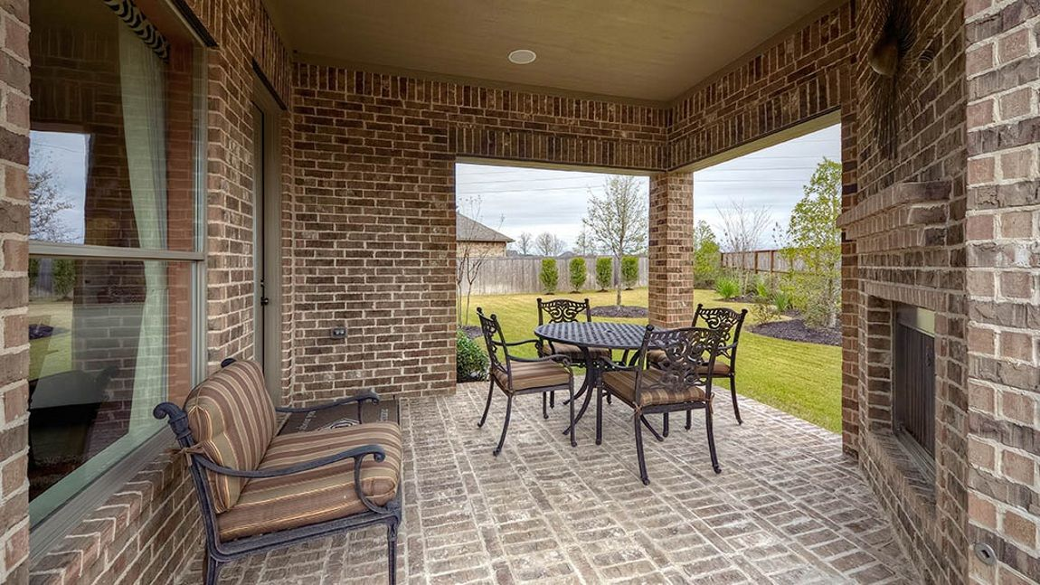 Bask in the sun or cozy up to the fireplace on the patios