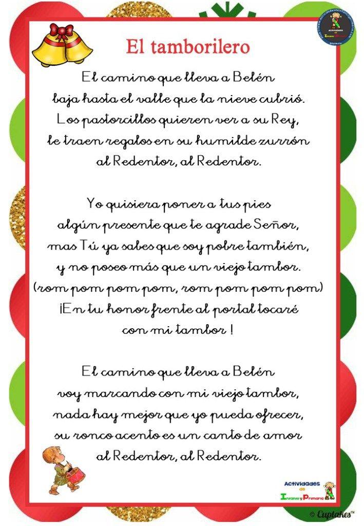 Colección De Letras De Villancicos Navideños Para Los Mas Peques Orientacion Andujar Villancicos Navideños Villancicos Letra Villancico