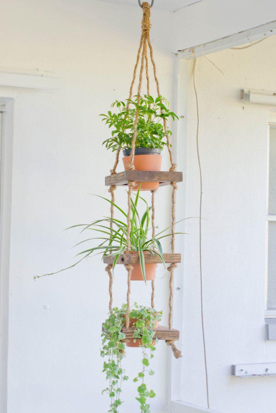 Rustic Hanging Planter Hanging Wood Planter 3 Tier Hanging