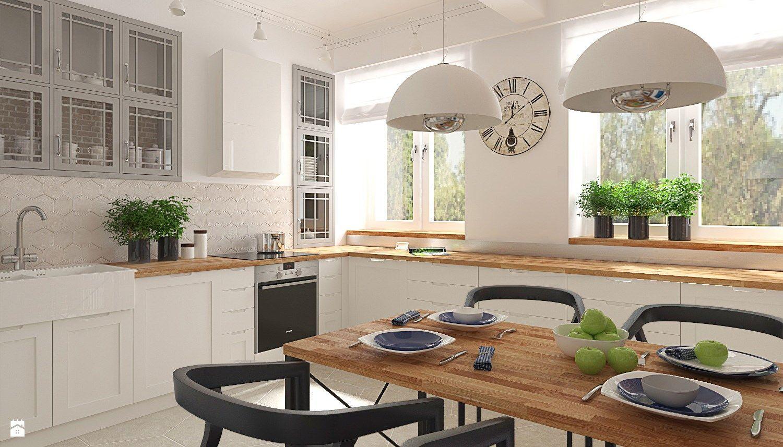 Szara Kuchnia I Dylemat Jakie Plytki Nad Kuchennym Blatem Interior Design Kitchen Kitchen Design Kitchen
