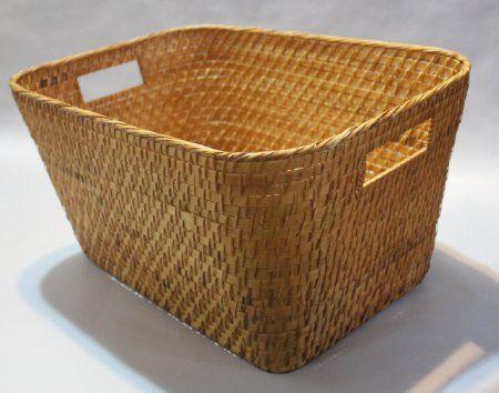 Amazon Com Rattan Storage Basket Or Bin With Rounded Corners Rt450244 20 X 16 X 10 High 27 Storage Baskets Rattan Basket