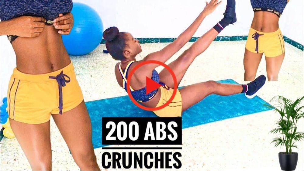 Intense longer workouts -200 Now Crunch Challenge / Best abs workout ~ Janekate Fitness