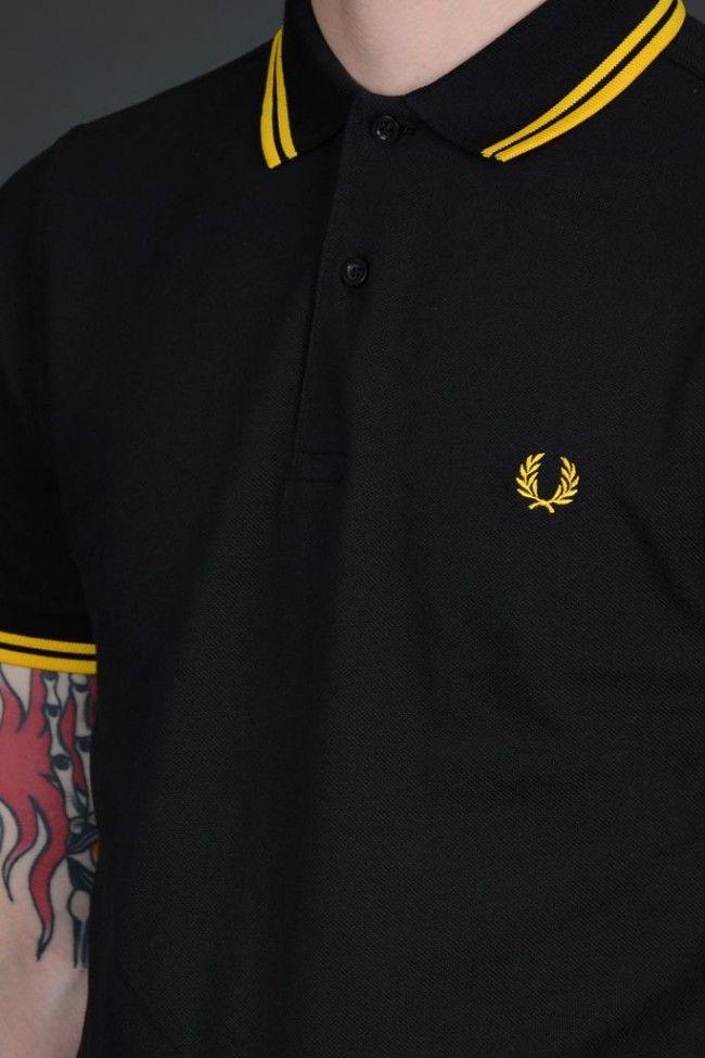 Fred Perry polo para hombre Camisa m3600 e05 Ivy Black Oxford verde blanco azul 7092