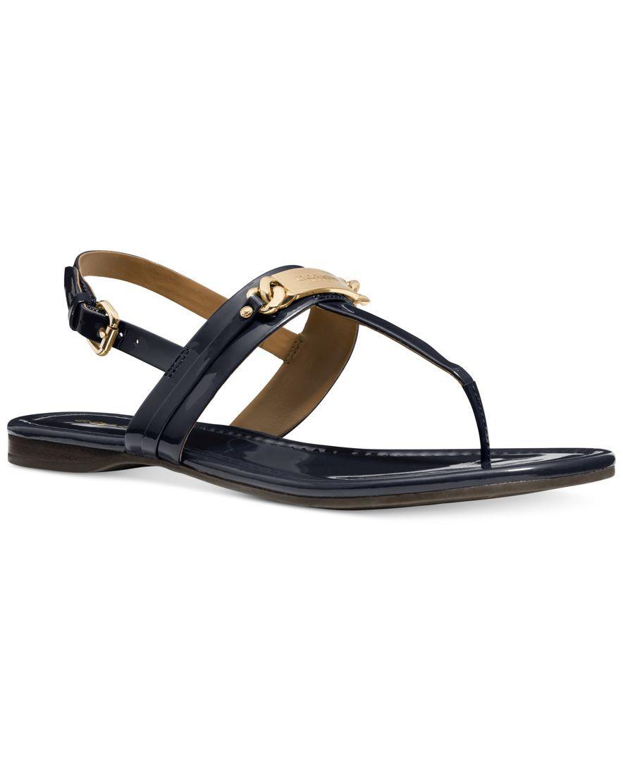 2f449859e Coach Caterine Logo Hardware Flat Sandals | Wish list | Sandals ...