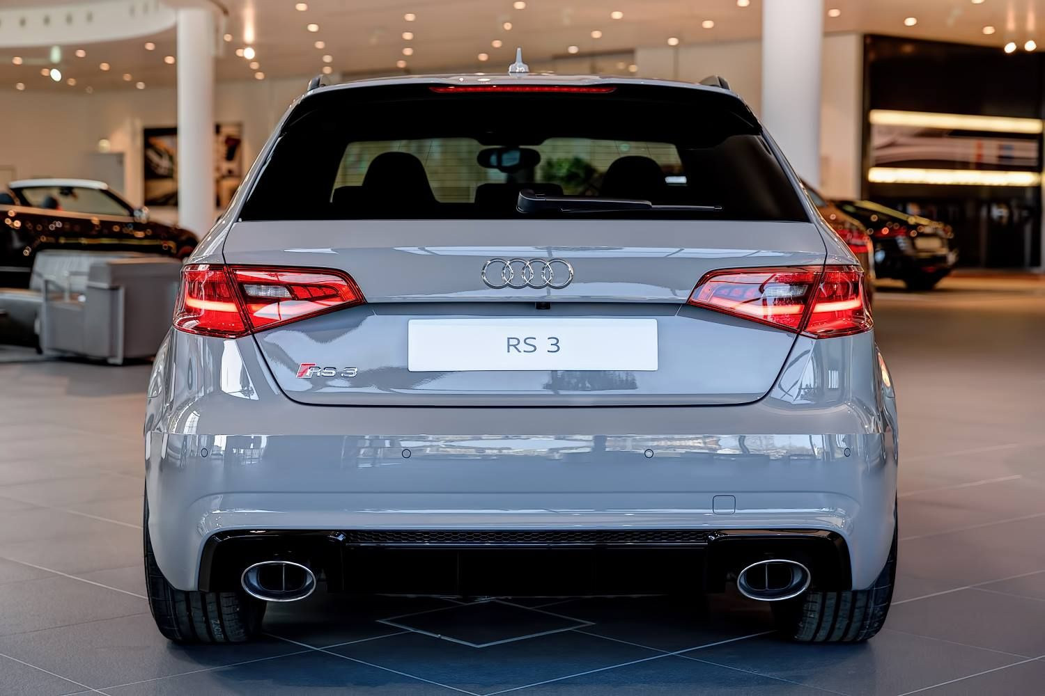Nardo Gray Rs3 Sportback By Audi Exclusive On Display At Audi Forum