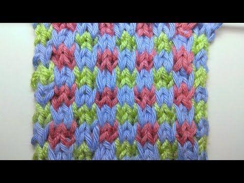 Knitting Patterns Colored Chess Slipped Stitch Knitting Youtube