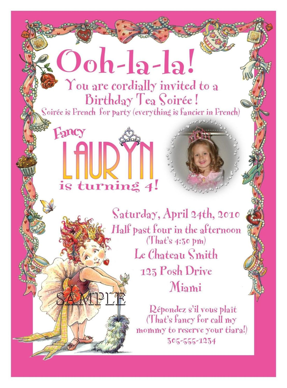 Wording for invitation.   Sloan\'s 5th Birthday!   Pinterest   Fancy ...