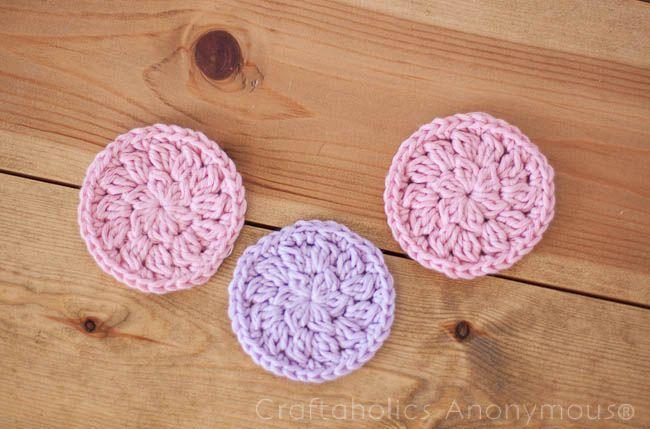 How to Crochet Face Scrubbies Tutorial | Cobija, Círculos y Bazares