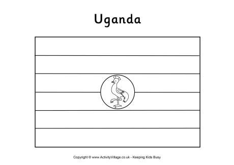 Uganda Flag Colouring Page Flag Coloring Pages Uganda Flag