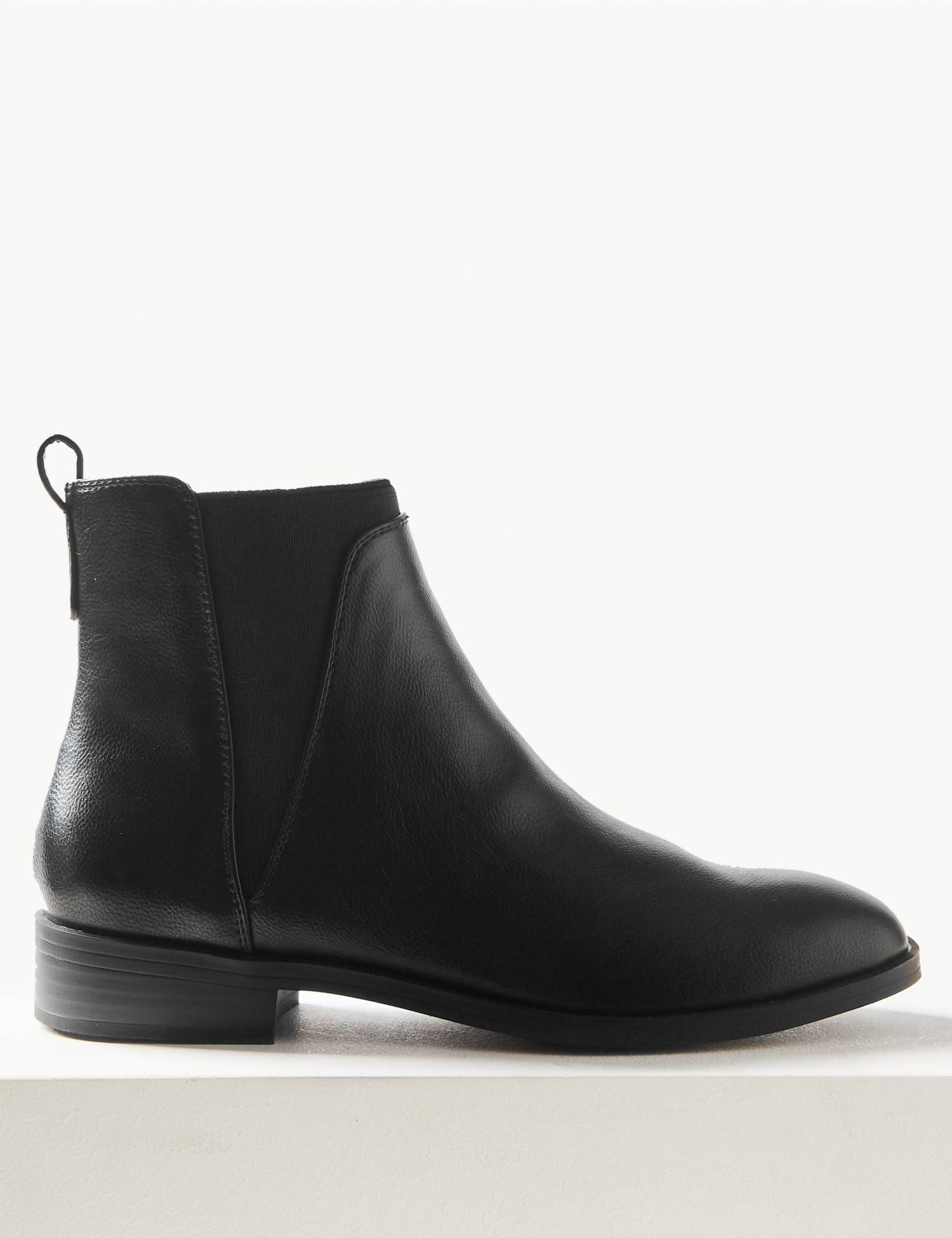 bf13340cbff Block Heel Chelsea Ankle Boots in 2018