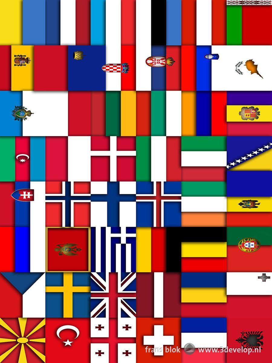 Ongebruikt Vlaggen van Europa 2: relief in 2019 | My digital art - Vlaggen VI-13