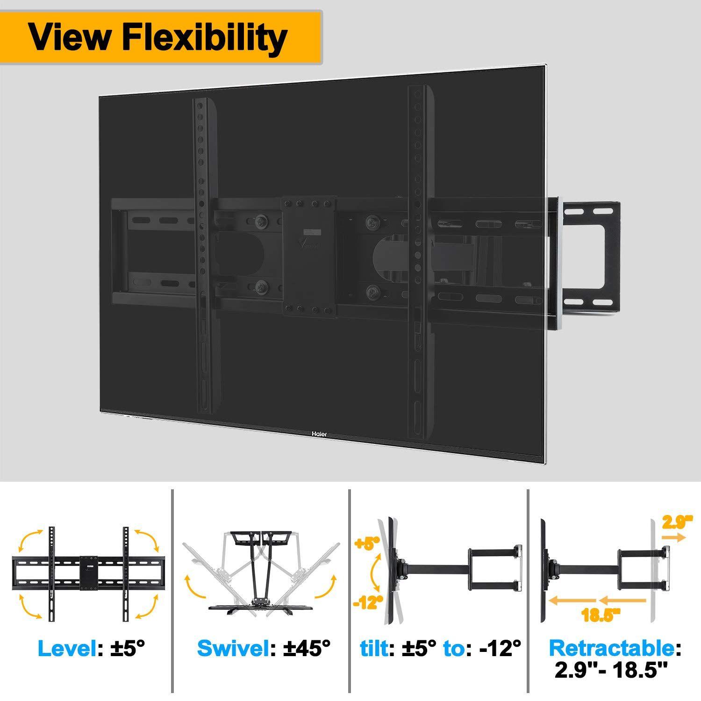 Vemount Corner Tv Wall Mount Bracket For 30 65 Inch Samsung Lg