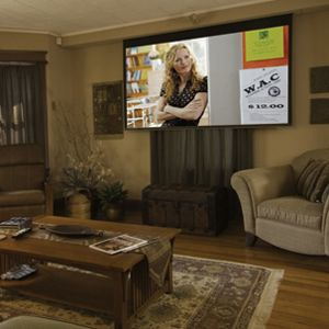 Hide 92inch projector screen google search my dream rooms pinterest preserve theater for Hiding a projector in living room