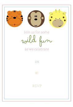 Free Printable Jungle Party Invitation