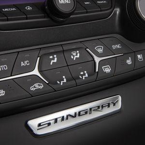 Corvette Stingray Interior Trim Badge Stingray Text Chrome Add