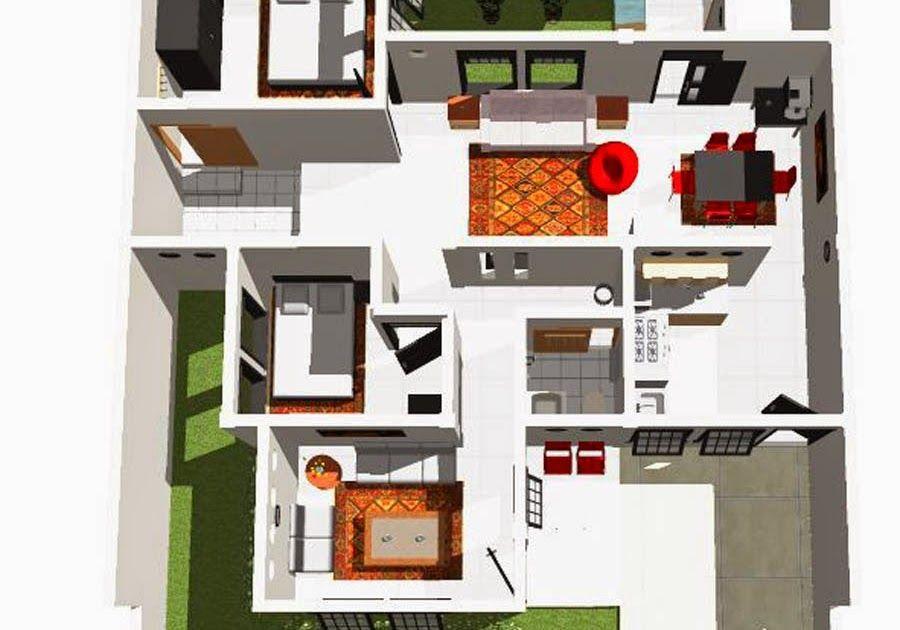 Kumpulan Desain Rumah Minimalis 6x12 3 Kamar 3d Kumpulan Denah Rumah Sederhana 3 Kamar Tidur Denah Rumah Minim Denah Rumah Modern Denah Rumah Rumah Minimalis