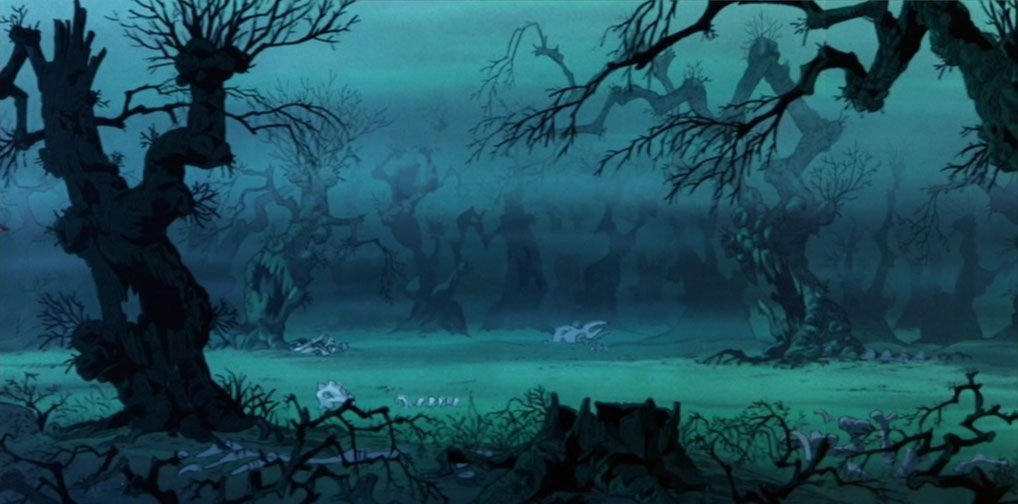 Animation Backgrounds: THE SWORD IN THE STONE: The Wizards