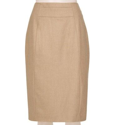 0e343d18428 Tailored Linen Blend oatmeal Pencil Skirt Order this wool blend pencil skirt  and have custom made