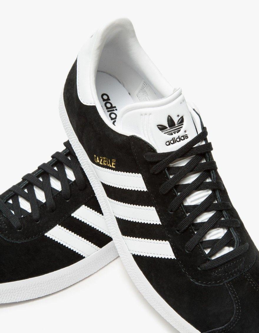 Gazelle in Black | Sneakers, Classic sneakers, Adidas