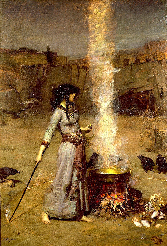 El círculo mágico - John William Waterhouse - Historia Arte (HA!) | Pintura  de brujas, Arte de la bruja, Brujas