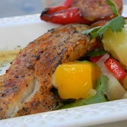 Paprika-Spiced Grilled Cod and Party-in-Your-Mouth Mango Salsa! - Allrecipes.com